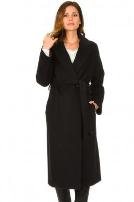 Set |  Luxury wrap coat Elegance | black
