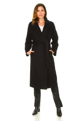 Look Luxury wrap coat Elegance