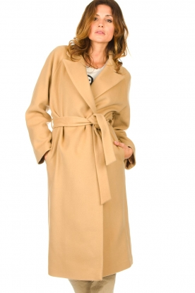 Set |  Luxury wrap coat Elegance | camel