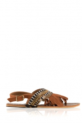OndadeMar |  Leather flip-flops Jill | brown