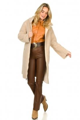Look Faux lammy coat Rail