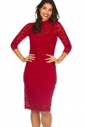 Rosemunde |  Lace dress Julie | red