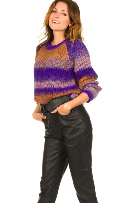 Set |  Knitted sweater Christy | purple
