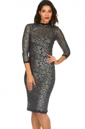 Rosemunde |  Lace dress with metallic details Julie | black