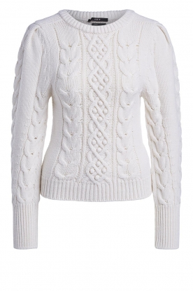 Set | Cable knit sweater Alice | white