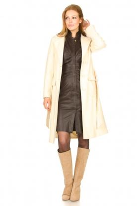 Look Lamb leather midi dress Amelia