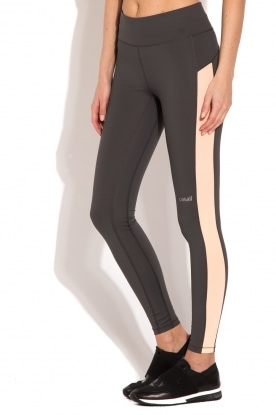 Casall | Sportlegging Structured Panel | grijs/neon