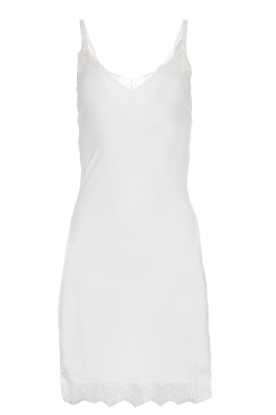 Rosemunde |  Slip dress with lace Daisy | white
