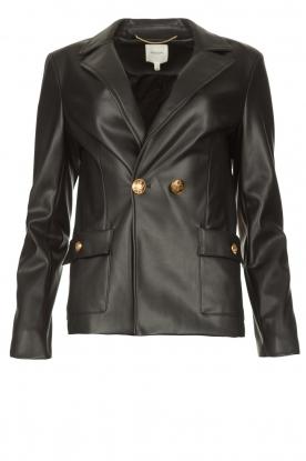 Kocca |  Faux leather blazer Rohana | black