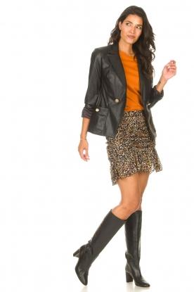 Look Faux leather blazer Rohana
