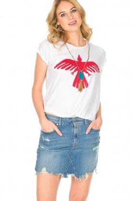 Leon & Harper | T-shirt Condor | wit