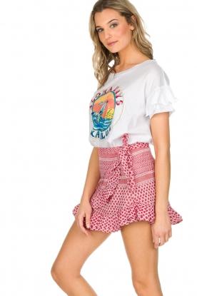 Leon & Harper | T-shirt Kailua | wit