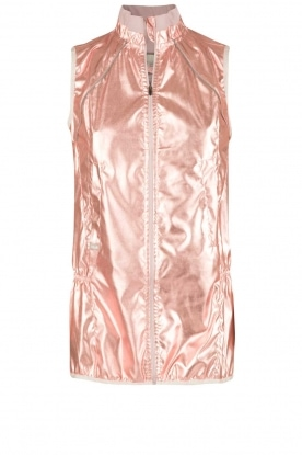 Casall |  Sleeveless sports jacket Metallic | pink