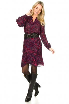 Look Printed midi skirt Dahlia