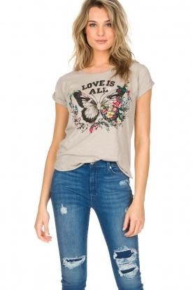 Leon & Harper | T-shirt Papillon | beige