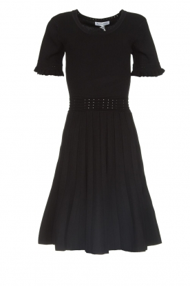 Silvian Heach |  Dress with pleated skirt Batabano | black