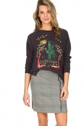 Leon & Harper | Sweatshirt Cactus | grijs