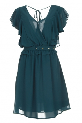 Silvian Heach |  Dress with ruffles Handan | blue