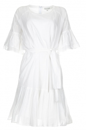 Silvian Heach |  Dress with ruffles Akhiok | white