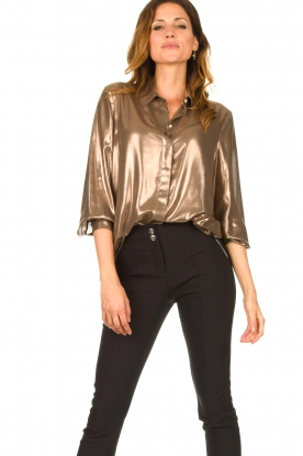 Set |  Metallic blouse Disco | metallic