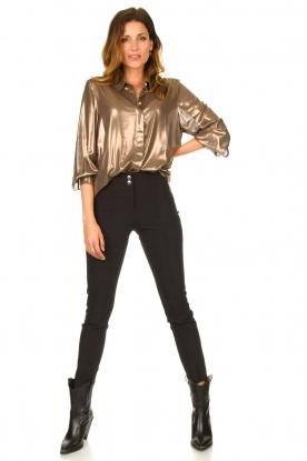 Look Metallic blouse Disco