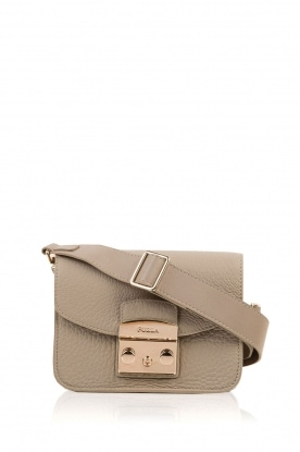 Furla |  Leather shoulderbag Metropolis Mini | cement