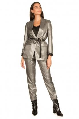 Look Metallic chino trousers Danino