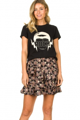 Sofie Schnoor |  T-shirt with print Caddy | black