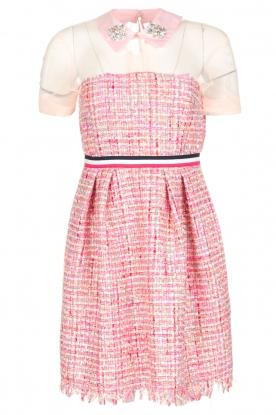 Atos Lombardini | Bouclé jurk Rosa | Roze