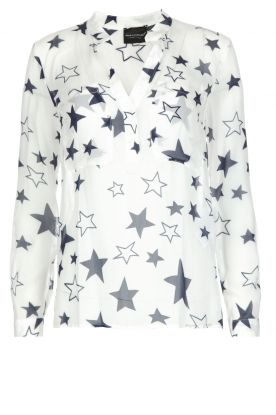 Atos Lombardini |  Top with star print Stelle | White