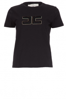 ELISABETTA FRANCHI |  T-shirt with logo application Arielle | black