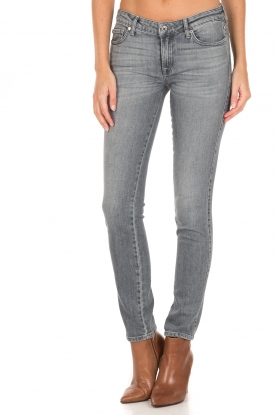 7 For All Mankind | Slim fit stretch jeans Pyper | grijs