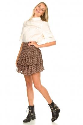 Look Printed ruffle skirt Coraline