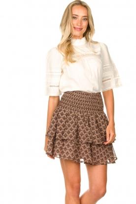 Sofie Schnoor |  Printed ruffle skirt Coraline | pink