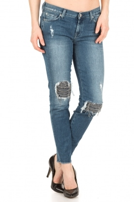 7 For All Mankind | Cropped skinny jeans Unro | blauw
