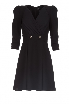 ELISABETTA FRANCHI |  Dress with button details Lena | black
