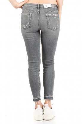 7 For All Mankind | Cropped skinny jeans Unro | grijs