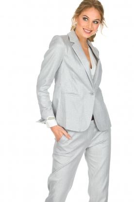 Atos Lombardini | Glinsterende blazer Argento | zilver