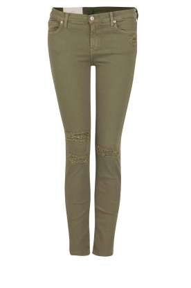 7 For All Mankind | Cropped skinny jeans Slim Illusion | groen