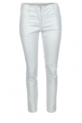 Atos Lombardini | Glitterende pantalon Adamo | Zilver