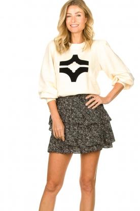 Sofie Schnoor |  Printed ruffle skirt Madonna | black