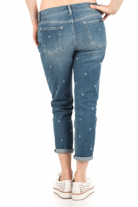 7 For All Mankind | Cropped boyfriend jeans Josefina | blauw