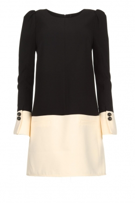 ELISABETTA FRANCHI |  Two-coloured dress Brianna | black