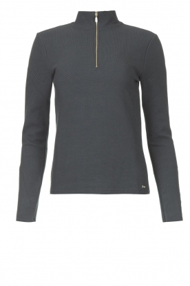Lune Active    Ribbed turtle neck sweater Moon   blauw