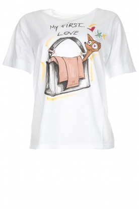 ELISABETTA FRANCHI |  T-shirt with print Guesse | white