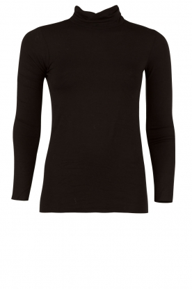 Atos Lombardini |  Longsleeve with turtle neck Evan | black