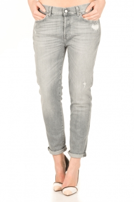 7 For All Mankind | Cropped boyfriend jeans Josefina | grijs