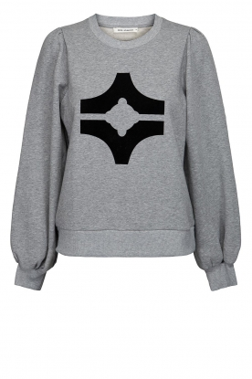 Sofie Schnoor |  Sweater with print Edith | grey