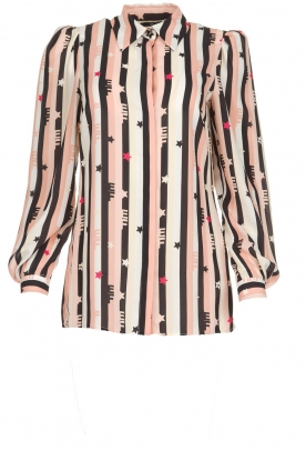 ELISABETTA FRANCHI |  Blouse with print Nero | black