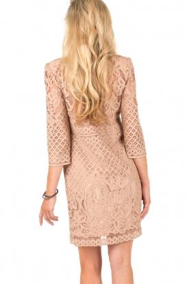 Atos Lombardini | Kanten jurk Avera | roze